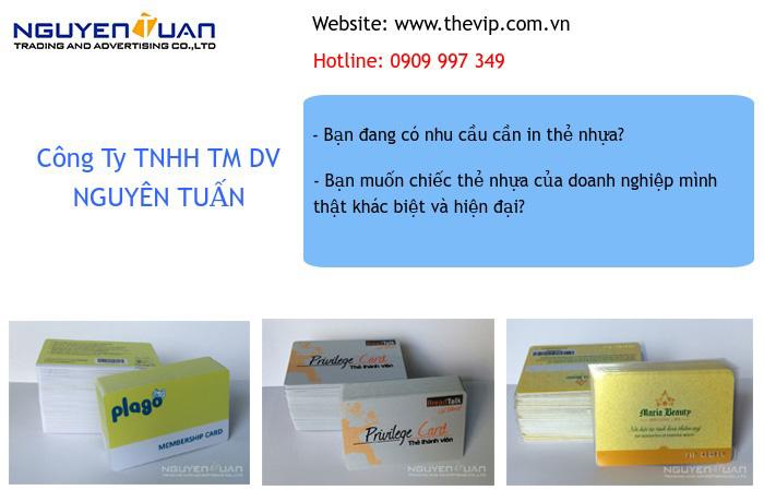 in thẻ nhựa chất lượng cao