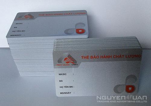 In thẻ bảo hành cao cấp ở TPHCM