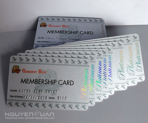 In thẻ membership card cao cấp ở TPHCM
