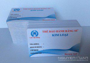 In thẻ nhựa bảo hành chất lượng cao, bền đẹp TPHCM