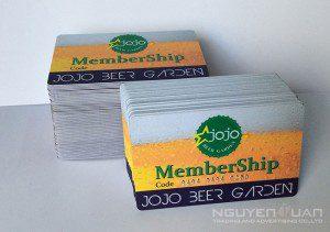 In thẻ nhựa membership chất lượng cao, bền đẹp TPHCM