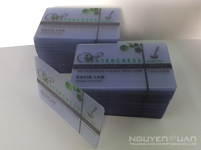 In thẻ nhựa trong suốt chất lượng cao, bền đẹp TPHCM