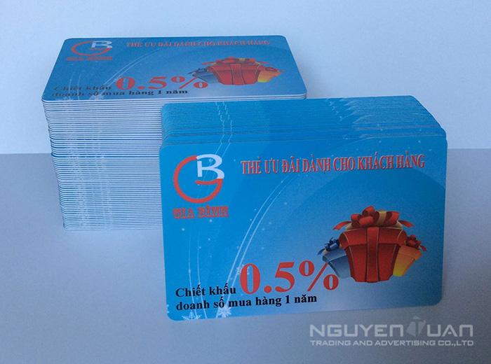 In thẻ nhựa làm thẻ ưu đãi, giảm giá chất lượng cao, bền đẹp TPHCM