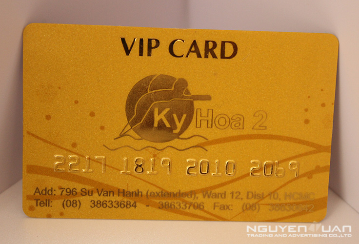 In thẻ nhựa VIP