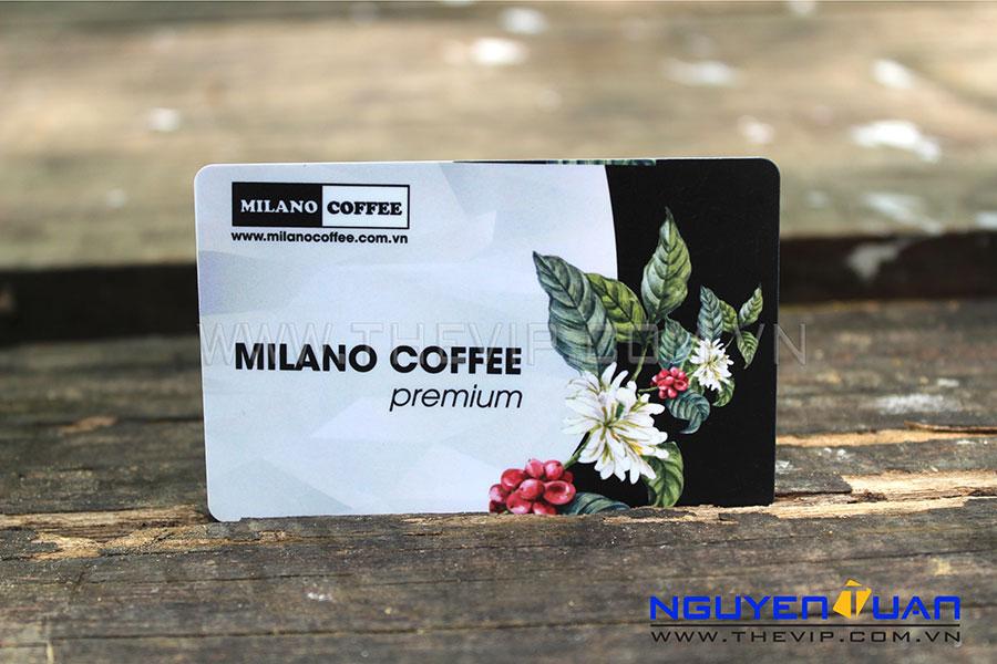 In thẻ nhựa milano coffee