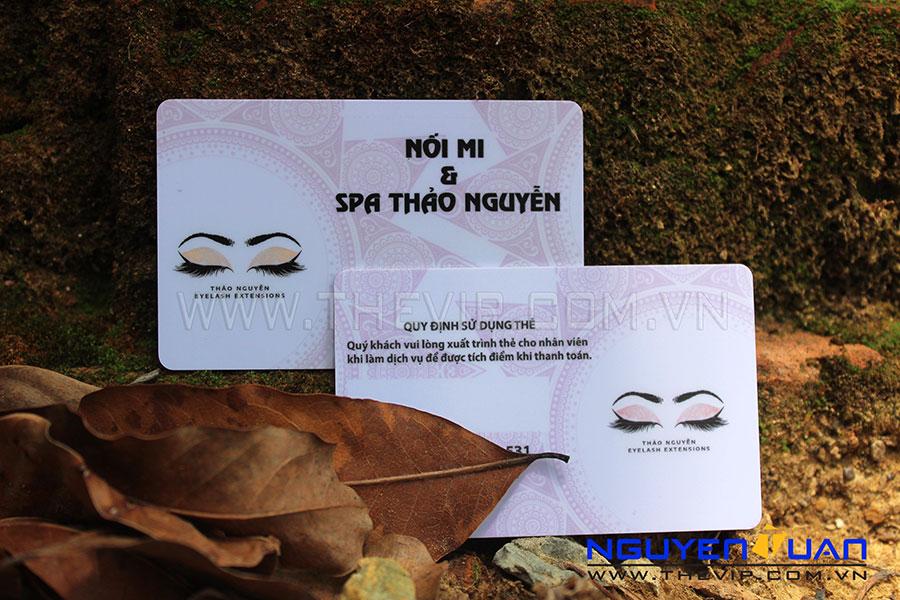 in thẻ nhựa spa thảo nguyên